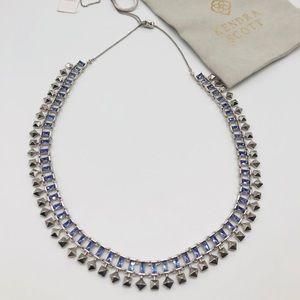 Kendra Scott Silver Lilac Crystal Oscar Necklace